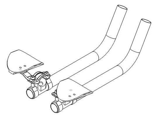 triathlon handlebar carbon tech drawing