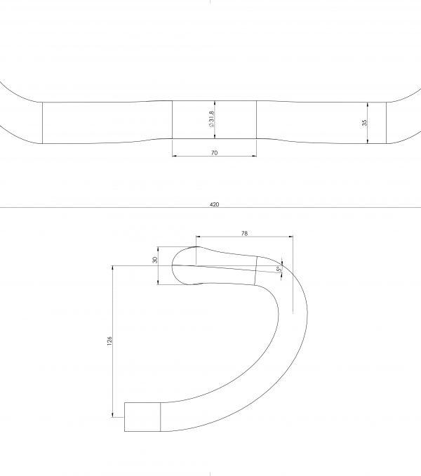 Schmolke Carbon 420--evo-cabon handlebar tech drawing