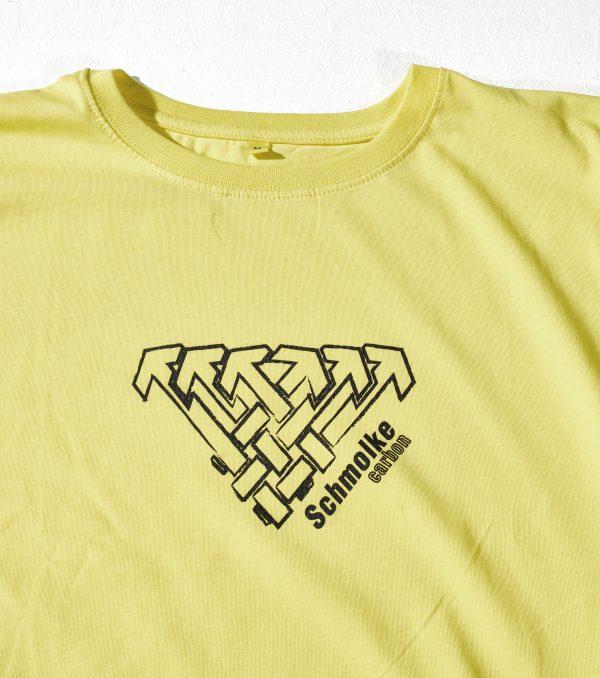 Schmolke Carbon logo t-shirt yellow