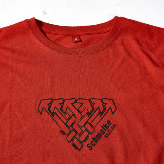 Schmolke Carbon logo t-shirt red