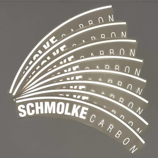 Schmolke Carbon reflective rim decal